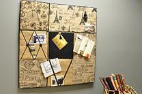 Burlap Paris Memo Board