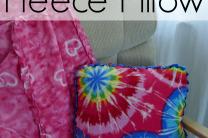 No Sew Fleece Pillow