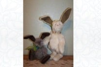 Antique Springtime Bunny