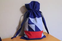 Quilt Block Drawstring Bag