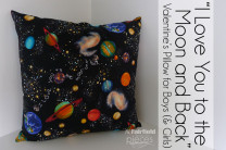 """I Love You to the Moon and Back"" Pillow"