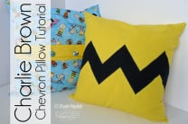 Charlie Brown Chevron Pillow