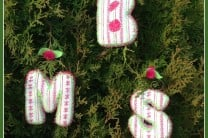 Embroidered Monogram Ornaments