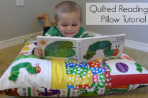 Quilted Reading Pillow Tutorial