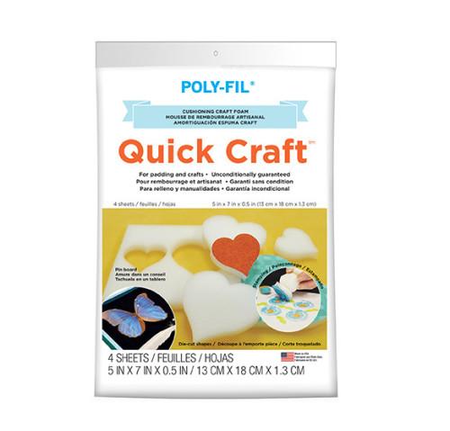 Quick Craft Foam – 5″ x 7″ x 1/2″ thick – 4pc