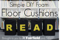 DIY Simple READ Floor Cushions