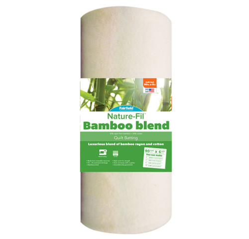 Nature-Fil™ Bamboo Blend Batting – 90″ wide  x 6 yard Roll