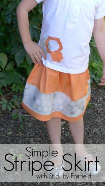 Simple Stripe Skirt