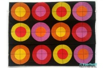 DIY Pop Art Circles Clutch Purse