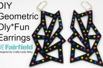 DIY Geometric Oly*Fun Earrings