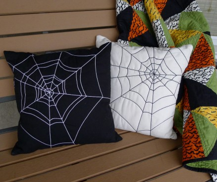 Spider-Web Quilted Pillows