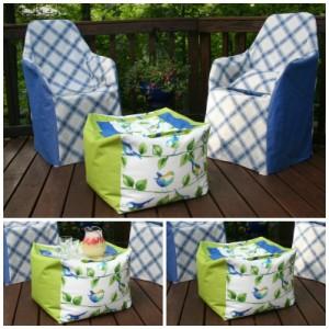 DIY Bean Bag Deck Cube