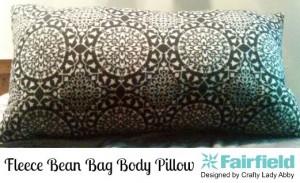 Fleece Bean Bag Body Pillow HEADER