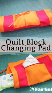 Quilt Block Changing Pad