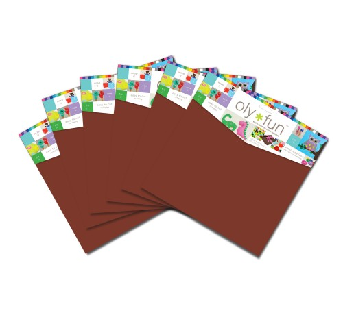 Oly-Fun™ Craft Sheets – Hot Fudge – 18 pieces