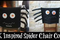No Sew Spider Chair Cover:  Inspired by Pottery Barn