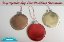 Easy Metallic Oly-Fun Christmas Ornaments