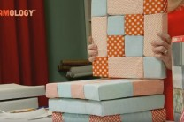 No sew patchwork tiles with On-The-Grid Design Foam