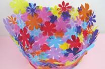 Fabric Flower Bowl DIY