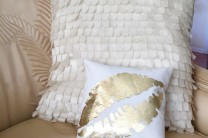 Gold Kiss metallic foil pillow