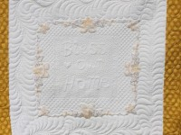 vintage table cloth quilt linen  table cloth