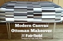 Modern Canvas Ottoman Makeover