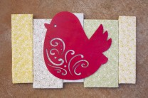 Pretty Bird Fabric Wall Art