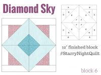 Free 2016 BOM quilt series Starry Night Block of the month designed by Heather Valentine of The Sewing Loft