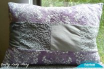 Sterling Silver and Violeta Jumbo Cuddle Pillow