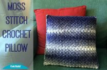 Moss Stitch Crochet Pillow