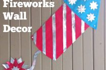 Patriotic Fireworks Wall Decor