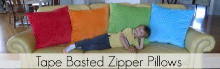 Tape-Basted Zipper Pillow