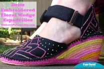 Dritz Embroidered Floral Wedge Espadrilles