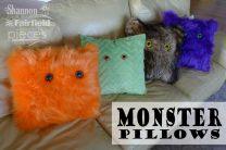 Furry Monster Pillows