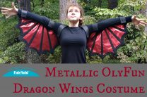 Metallic OlyFun Dragon Wings Costume