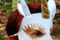 Golden Unicorn Costume Mask