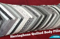 Heringbone Quilted Body Pillow