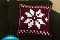 Scandinavian Snowflake Pillow