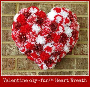 Valentine Oly-Fun™ Heart Wreath