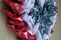 Valentine's Day Ruffled OlyFun Heart Wreath