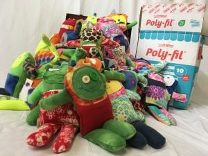 warp and weft monster-pile-and-polyfil