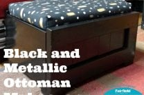 BLACK AND METALLIC OTTOMAN MAKEOVER