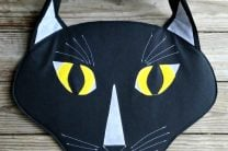 OVERSIZED TUXEDO CAT HEAD TOTE BAG