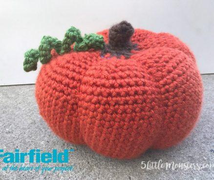 Large Crocheted Pumpkin
