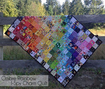 Rainbow Ombre I-Spy Quilt