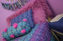 Small Fur throw Pillow