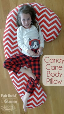 Candy Cane Body Pillow
