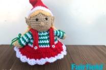 Crochet Christmas Elf Girl