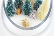 Miniature Snow Globes Made Using Poly Pellets