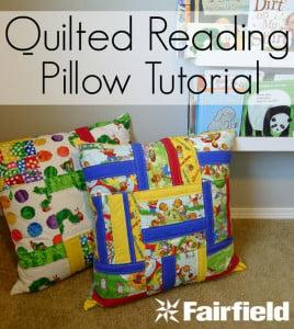 Reading Pillow Tutorial
